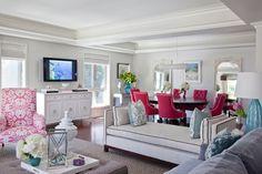 Nice beachy living room/dining area