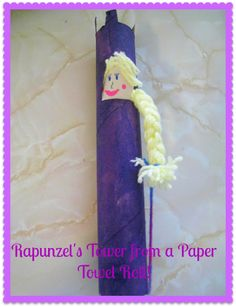 Rapunzel's Tower- paper towel roll craft