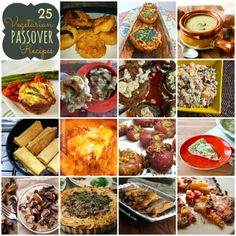 25 Vegetarian Passover Recipes. These #gluten-free recipes are perfect for Passover -- or anytime of the year! All are #vegetarian, some are #vegan, too.