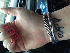 My diabetes alert tattoo SugarsTheBNotMe.blogspot.com # type 1 diabetes