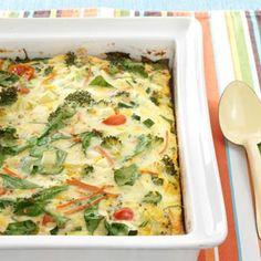 Garden Veggie Egg Bake Recipe from Taste of Home -- shared by JoAnne Wilson of Roselle Park, new Jersey