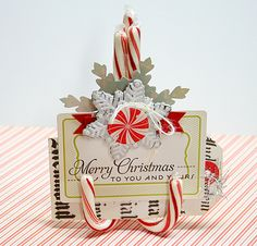 place card holders, pink paisle, place cards, candies, christmas, candi cane, candy canes, christma craft, cane place