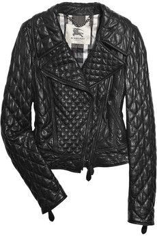 Burberry Quilted leather biker jacket
