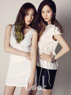 Krystal & Seohyun for 1st Look Magazine