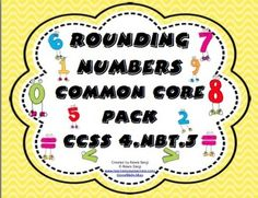 Rounding Numbers Common Core Standards Pack CCSS (4.NBT.3) Getting ready for math workshop, math centers, or math fun has never been easier! This pack includes 24 self checking task cards, 24 center or Scoot cards, 2 rounding numbers games, and 2 independent worksheets/quizzes! WOW! $