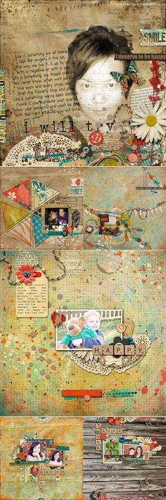 >> CT INSPIRATION using Think Happy Be Happy by Studio Basic and Amy Wolff
