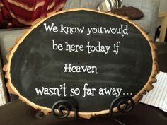 Rustic wedding decoration - Memorial sign - Chalkboard sign on Etsy, $35.00