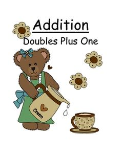 """Fern Smith's Center Game Math ~Over 50 Pages~ Addition """"Doubles Plus One"""" Concept"""