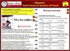 Nouveaux exercices interactifs avec l'audio pour apprendre le français tirés du magazine Bien Dire http://www.editions-entrefilet.fr/interactive.php