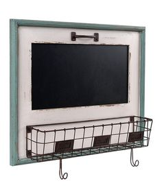 @Jennifer Milsaps Titus Earles  Love this White Blackboard & Letter Holder Basket on #zulily! #zulilyfinds