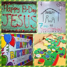 happy birthday Jesus - Sunday School party