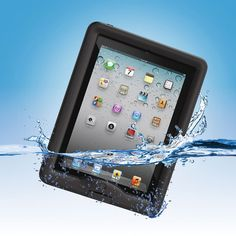 The Waterproof iPad Case: Winner of the Consumer Electronic Show's Innovation Award, this is the iPad case that allows full use of the tablet in up to 6 1/2' of water. #iPad_Case #Waterproof
