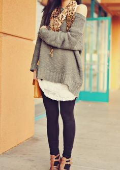 LOVE slouchy sweaters
