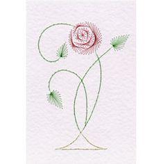 Art Nouveau Rose 4 Prick and Stitch e-pattern
