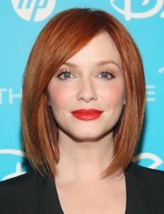 hair colors, red hair, bob hairstyles, beauti, hair color ideas, redheads, long bobs, christina hendricks, bob haircuts