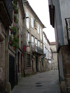 Rúa do Castro. Santiago de Compostela