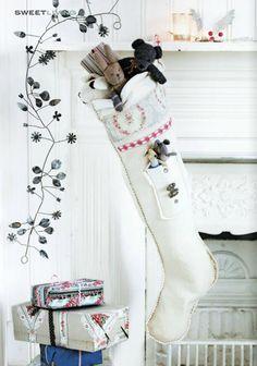white Christmas stocking from Sweet Living magazine