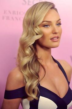 Perfect Long Blonde Homecoming Hairstyle