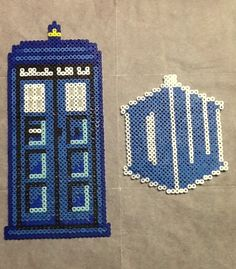 Tardis and DW Prett's Perler Beads order :)