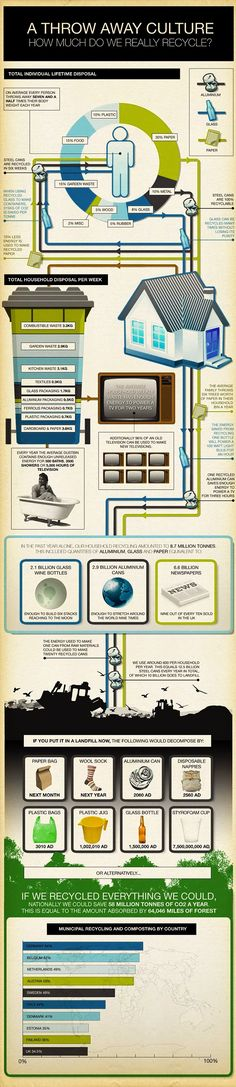 how much do we really recycle infographic