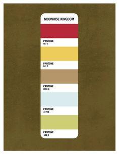 Moonrise Kingdom Pantone Print