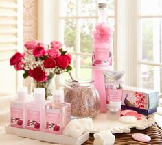 Pier 1 Rose Bath Collection is perfect for pampering