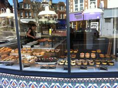 Bakery store window in Crouch End