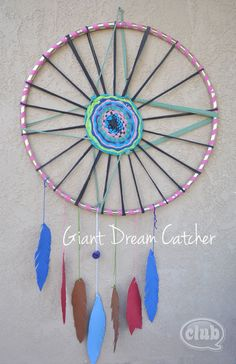 How to Make a Giant Dream Catcher | Tween Crafts - Connecting Mom and Daughter through crafting