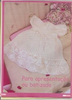 White Baby Dress free crochet graph pattern
