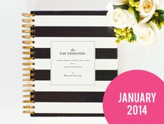 Day Designer  JANUARY 2014  2015 Black Rugby by whitneyenglish, $55.00