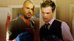 "↳ Spencer Reid & Derek Morgan Caps - Criminal Minds Season 06x21 ""The Stranger"""