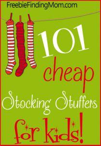 101 Cheap Stocking Stuffers for Kids from FreebieFindingMom.com! #christmas