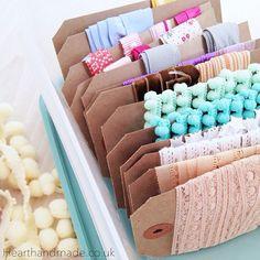 Crafty Organizing | Organizing The Craft Room | Embroidery Thread and Ribbon Storage