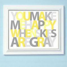 would love this in a gray and yellow bedroom grey bedrooms, bedroom decor, gray bedroom, yellow bedroom, kid rooms, bedroom art