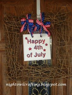 Night Owl Crafting: 4th of July Crafts Part 2
