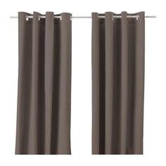 MERETE Curtains, 1 pair - brown - IKEA
