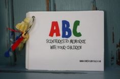 Nice Idea. Scripture verses on cards to help kids learn the alphabet