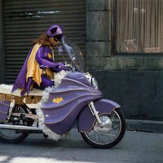 Batgirl's batcycle from the 1960's Batman television series. I love Yvonne Craig's Barbara Gordon.