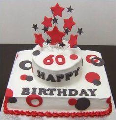 Happy Birhtday cake for old women and men: Birthday Cake 60th Idea ~ ucakedecoridea.com Designs Inspiration