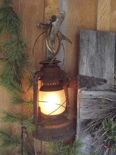 Old rusty lantern light