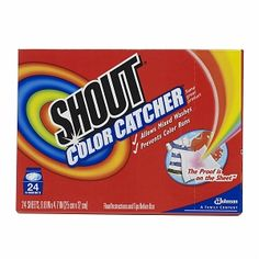 I use these when I'm washing something for the first time. Thanks, Mom, for the tip. shout color, color catcher