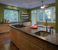 loving green kitchens lately