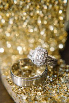 cushion engagement ring - photo by Sean Money + Elizabeth Fay - http://ruffledblog.com/glittered-charleston-wedding/