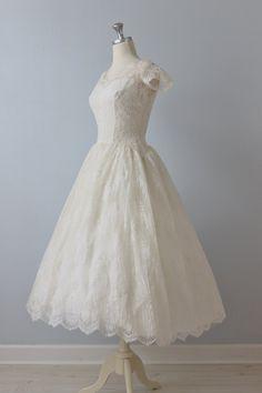 50's Tea Length Wedding Dress