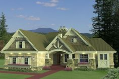 The more I look the more I like this medium-sized bungalow:  House Plan 51-552