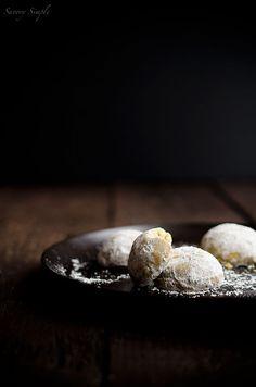 Spiced Chai Pistazie Schneeglöckchen Cookies