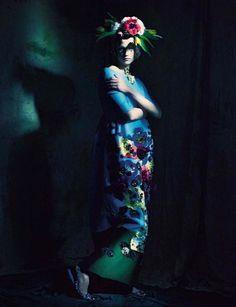 Saskia de Brauw by Paolo Roversi, Vogue Italia