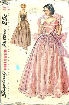 Cinderella's going to the Ball!   40's Dirndl Skirt Evening Gown Decollette Bodice by retromonkeys, $45.00