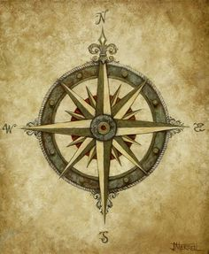 Compass Rose Painting