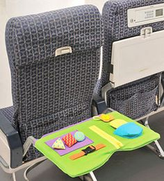 Travel Tips: Star Kids Air Play Travel Tray...slips over the plane's tray table for interactive play